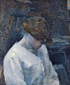 Henri De Toulouse-Lautrec  - La Rousse in a White Blouse. 1889      Oil on canvas, Museo Thyssen-Bornemisza, Madrid, Spain