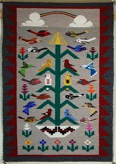 Tree of Life Pictorial Rug by Latonya Begay (Navajo)