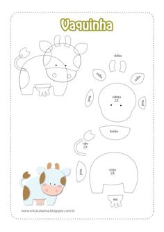 Farm animals- cow template- no link.