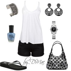 Black/White, created by dmac30 on Polyvore