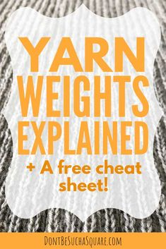 Yarn Weight Conversion Chart # Your Best Guide to Yarn Weights + a free Knitting Cheat Sheet! Knitting Needle Size Chart, Knitting Help, Knitting Blogs, Knitting Charts, Knitting Stitches, Knitting Patterns Free, Knitting Needles, Knitting Yarn, Knitting Ideas