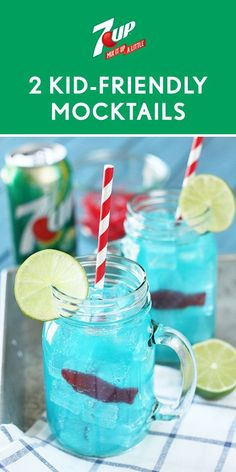 Summer is here, and that means that you can never have too many ways to keep your kids cool this summer. Whether your kids are playing outside or enjoying the pool at your family get-together, these 2 Kid-Friendly Mocktails are perfect for the occasion. With both recipes for Sea Water and a Pineapple Sunrise featuring 7UP®, it's not hard to see where they get their refreshing flavor from! Pick up all the ingredients you need at Walmart and watch the smiles appear.
