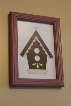 FREE SHIPPING  AND  NEW PRICE   BirdHouse Wall Art by SarahKCreations on Etsy, $7.00