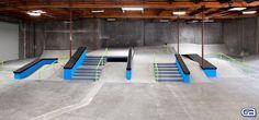 Nyjah Huston's private skate park Bmx, California Skateparks, Nyjah Huston, Skate Park, Skateboarding, Snowboarding, Garage, Stairs, Indoor