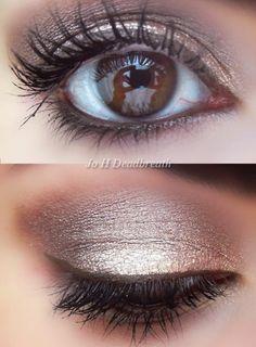 Brown eye makeup