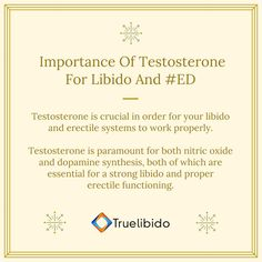 Importance Of #Testosterone For #Libido And #ED