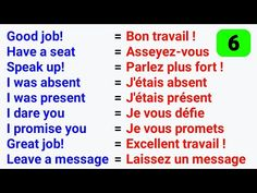 Les phrases les plus utilisées en anglais ● The Most used phrases in English ✪ #6 - YouTube French Words Quotes, Basic French Words, French Phrases, How To Speak French, Learn French, French Language Basics, French Language Lessons, Spanish Language Learning, French Lessons