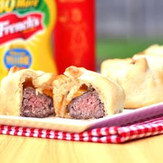 Crescent Roll Cheeseburgers - a twist from the mini hot dog