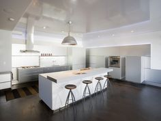 two level bench top   Modern White Kitchen Design, Pictures, Remodel, Decor and Ideas - page 22