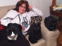 my other kids.  L to R, Benny, Oliver & Maggie!  They love their mommy.