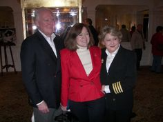 John Joslyn, Mary Kellog and myself. Two of my favorite people and owners of the Titanic Museums in both Branson, MO and Pigeon Forge, TN. I was there to accept the Loving Cup that Margaret Brown presented to Captain Rostron of Carpathia from his Great Granddaughters, Margaret & Janet Rostron and install it into The Molly Brown Gallery in Pigeon Forge. What an incredible moment!