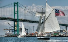 Tall Ship Festival in Los Angeles Harbor, San Pedro, California. (ST/V Amazing Grace)