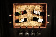 wine cork projects   Wine Cork Wine Rack. Black Walnut with Pecan - by mountainheart ...