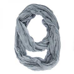 "Grey Genevieve Infinity Scarf Size: 19"" x 70"" Unique Look Stylishly De"
