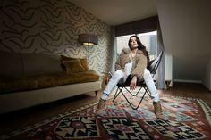 """Jeannette Graf - Designer Jeans """"Bitchi`n Blue"""" mit Swarovski Kristallen verziert"""