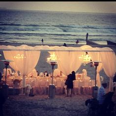 Really beautiful beach reception. How much planning would this take to pull off??