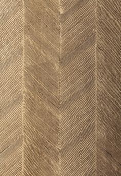 Wallcovering / Wallpaper | Chevron Texture in Sable | Schumacher
