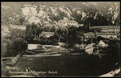 Aalvik - Ålvik- Kvam kommune Hardanger, Hordaland fylke. Fabrikkanlegg. Stemplet 1916