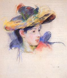 Berthe Morisot Jeanne Pontillon Wearing a Hat - The Largest Art reproductions Center In Our website. Low Wholesale Prices Great Pricing Quality Hand paintings for saleBerthe Morisot Renoir, Art Sketches, Art Drawings, French Impressionist Painters, Berthe Morisot, French Art, Oeuvre D'art, Art History, Painting & Drawing