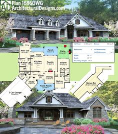 Architectural Designs Rugged Craftsman House Plan 16860WG looks great front and back (the sides, too; you can see virtual renderings from every angle online). Ready when you are. Where do YOU want to build?