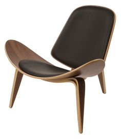 Wegner Leather Shell Chair - Extremely comfortable design, very high quality. From Advanced Interior Designs