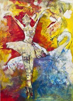 "Saatchi Art Artist Diana Linsse; Painting, ""Dance"" #art #saatchiart #acrylic #mixed media"