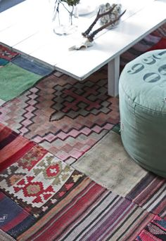Patchwork style carpets are really popular now, find more of them at CarpetVista.com.