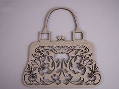 Purse Wood Shape, Laser Cut, Filigree, Wall Art, Ready to Paint Wood Shapes