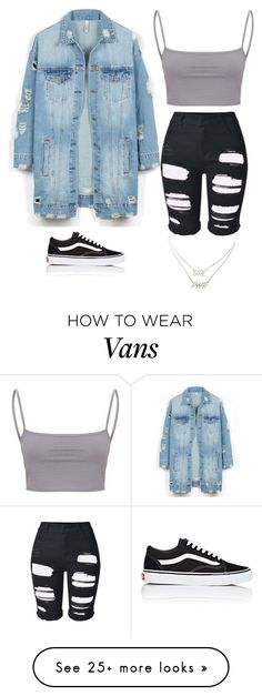 """Untitled #5587"" by twerkinonmaz on Polyvore featuring LE3NO, Vans and Charlotte Russe"