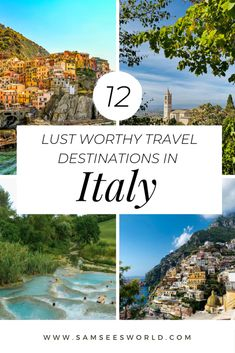 Italy is a country full of stunning cities and towns. Here is a list of the top 12 | Rome | Tuscany | & Many more!