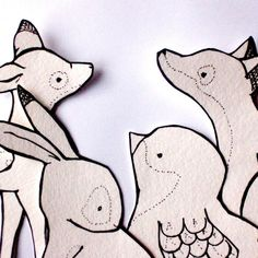 the templates are for cards but they'd look adorable embroidered - Woodland Creature Cards To Color Printable door trafalgarssquare