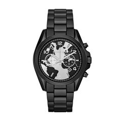 c1c15626009ef Michael Kors World Hunger Bradshaw Chronograph Black Bracelet (MK6271) -  43mm - The Watches