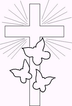 EASTER COLOURING: RELIGIOUS EASTER COLOURING PAGES