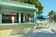 Concession stand at Crandon Park; sigh, the memories.