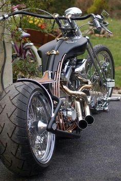 Harley Chopper motorcycles and custom motorcycles. Sometimes bobbers but mostly choppers, short chops and custom bikes. Harley Davidson Chopper, Harley Davidson Motorcycles, Harley Bobber, Custom Choppers, Custom Bikes, Custom Baggers, Triumph Motorcycles, Cool Motorcycles, Vintage Motorcycles