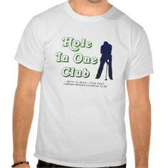 Mens Hole In One Bragging Rights Custom Golf Shirt #Personalized #tshirt
