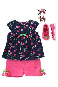 Sweet In Petals  Your sweet girl is so adorable in bright tulips and shorts! Dress her in a playful swingy top and darling tulip pocket shorts with matching curlies and sneakers for a cheerful look that's perfect for spring parties or playtime.          Email to a Friend
