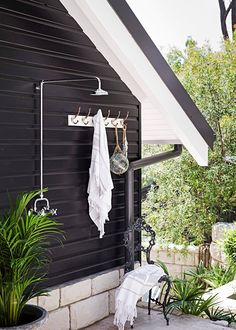 Keep the white to windows and fascia . black downspouts and gutters? :: Outdoor shower