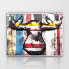 Portrait of a Moose Laptop & iPad Skin by Portraits on the Periphery   - $25.00