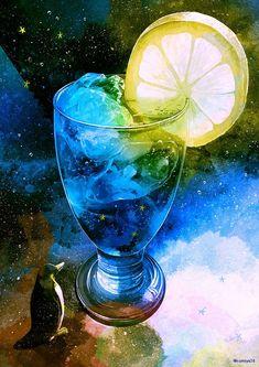 おぼろ月 この絵は関係ありませんが、コミティア127(2/17) スペース:G08b (西3ホール) 【 Buku Buku 】で参加予定です。ポスカセットと既刊を持っていきます。 Anime Galaxy, Galaxy Art, Scenery Wallpaper, Galaxy Wallpaper, Cute Food Art, Art Case, Tea Art, Anime Scenery, Watercolor Illustration
