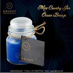 An Ocean Breeze fragrance puts a mind at ease  Krixot presents Mini Country #OceanBreeze #FregnanceCandle For Order- www.krixot.com/