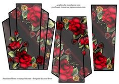 - This lovely shaped stacker topper features gorgeous red drama roses. It has two stacker layers to add depth. Pastel Roses, Ivory Roses, Yellow Roses, Red Roses, Diy And Crafts, Paper Crafts, 3d Sheets, 3d Pattern, Decoupage Ideas