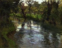 Fritz Thaulow - Woodland Scene with a River Oil Painting Gallery, Art Gallery, Landscape Art, Landscape Paintings, Landscapes, Impressionist Paintings, Traditional Paintings, Plein Air, Art Reproductions