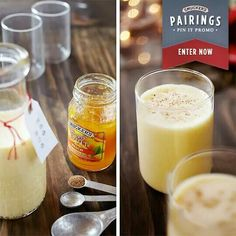 Peach Egg Nog Smoothie