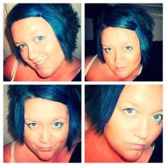 Splat hair color in Aqua Rush. So pretty! Aqua Hair, Wigs, Hair Color, Hair Styles, Pretty, Hair Plait Styles, Haircolor, Hair Makeup, Hairdos