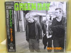 CD/Japan- GREEN DAY Warning +2 bonus trx w/OBI RARE ORIGINAL 2000 WPCR-10850 #PunkRockPunkPop