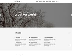 Cluster is a free responsive one page portfolio bootstrap template with clean, simple, minimalist and elegant design. Free Portfolio Template, Bootstrap Template, Creative Portfolio, First Page, Web Design, Messages, Templates, Minimalist, Elegant