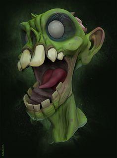 Zombie based on Creaturebox concept art and Florian Jonas 3D model