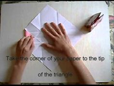 How to make your own origami gift bag.