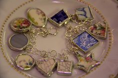 Broken China Charm Bracelet created by Links To Your Heart